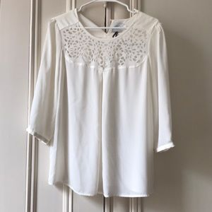 Anthropologie {HD in Paris} ivory blouse